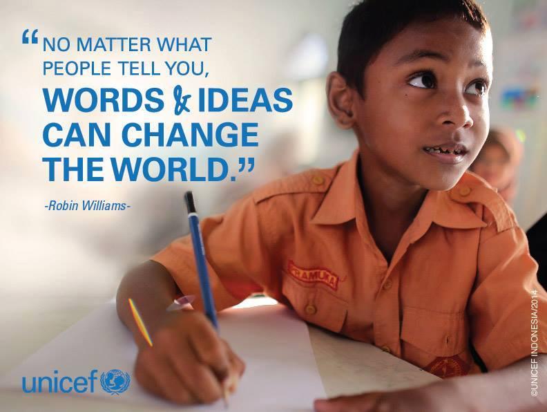 WE LEAD - Robin Williams UNICEF